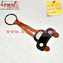 leather key chain holder ring