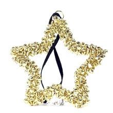 metal jingle bells gold heart star