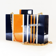 resin box clutch bag