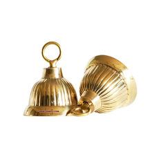 small brass hanging bells