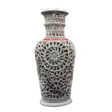 tone carving flower vase