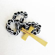 White black resin beads