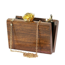 wood hand bag