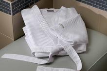white waffle bathrobe