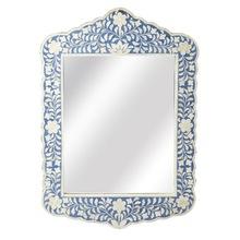 Blue and White Bone Inlay Wall Mirror