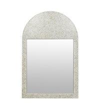 Bone Inlay Arch Mirror Geometric