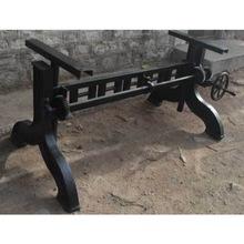 Fancy cast iron adjustable crank table base