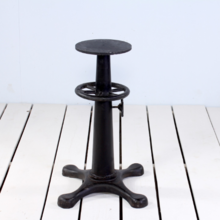 Industrial cast iron cafe table base black
