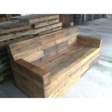 Reclaimed wood sofa/Recycled wood garden sofa