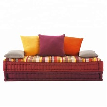 Six Seater Cotton Modular Corner Day Bed