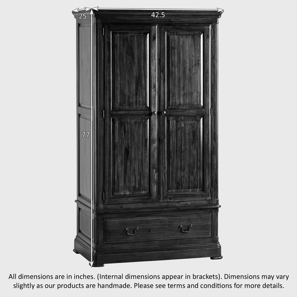 Solid acacia wood wardrobe/Solid wooden wardrobe