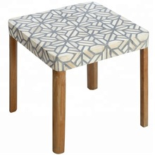 Square shape bone inlay side table