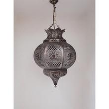 Vintage finish brass hanging lantern