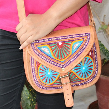 941d2be45aba Buy Embroidery Leather sling Bags from Aryan Exports