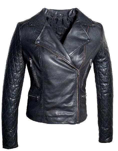 Leather Ladies Biker Jacket