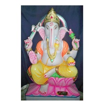 Stone White Ganesha Idols