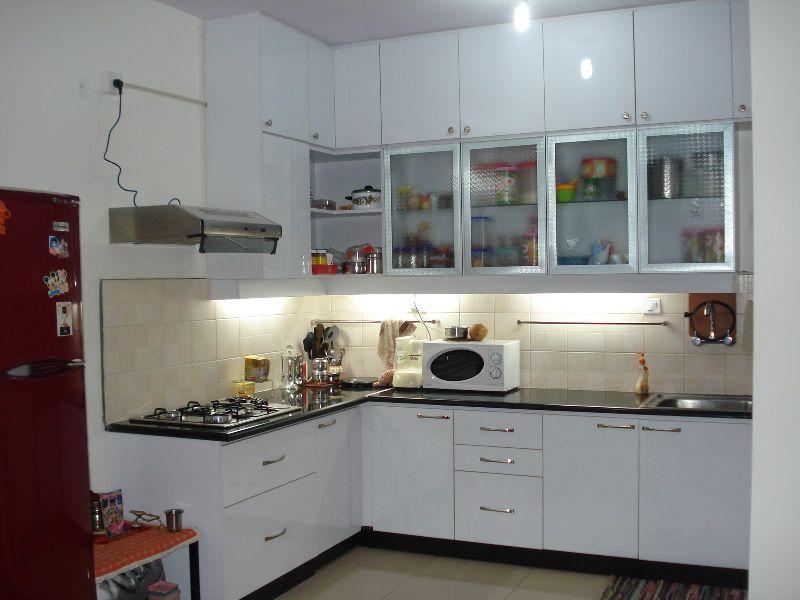 L Shape Modular Kitchen Manufacturer In Delhi Delhi India By Aakarshan Modular Kitchens Wood Inteirors Id 4518237