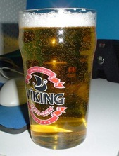 Color Printed Blown Beer Glass