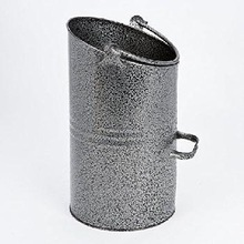 GALVANIZED FIREPLACE COAL BUCKET