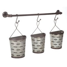 HANGING GALVANIZE MINI BUCKET POT