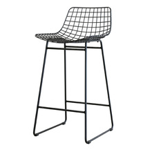 industrial style iron wire bar stool