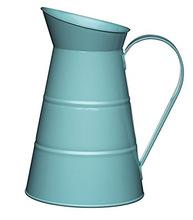 LIGHT BLUE GALVANIZED GARDEN FLOWER JAR