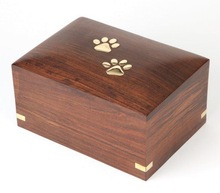 Wooden Cremation Urn for Pet