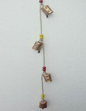 WROUGHT IRON BELL HANGING WINDE CHIME