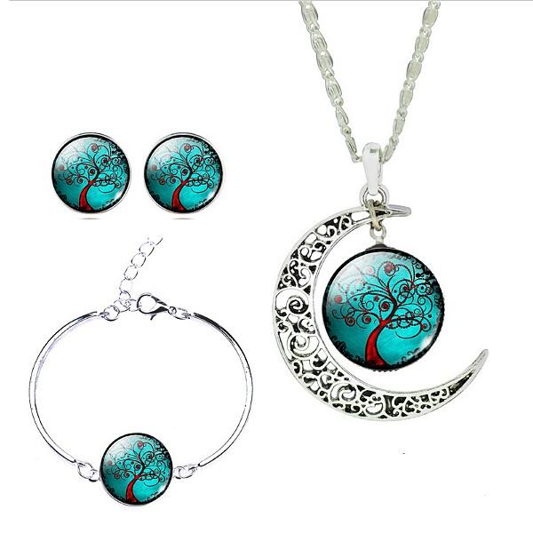 3 Pieces Glass Jewelry Set