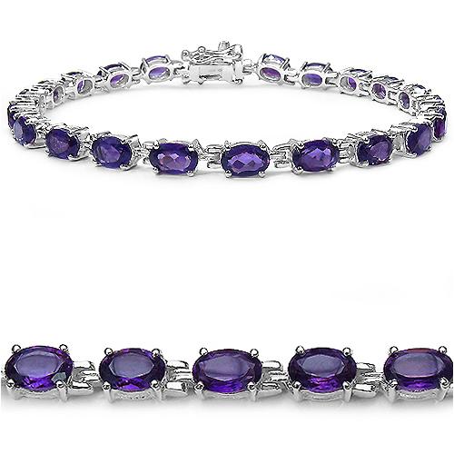 Amethyst and Sterling Silver Link Bracelets