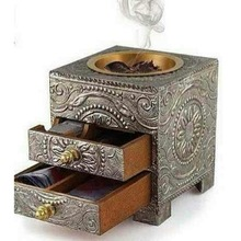 Bakhoor Incense Burner With Drawer Incense Box
