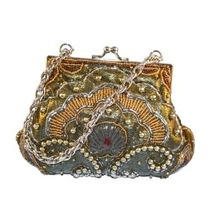 Beaded Fabric Ladies Coin Purse