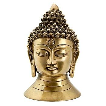 Buddha Head Brass Statue