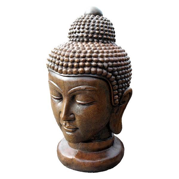 Buddha Head Stone Statue