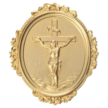 Cross With Christ Brass Medal