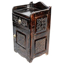 Decorative Antique Hand Carved Wooden Cabinet Almirah