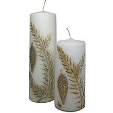 Decorative Pillar Floral Handmade Natural Candles