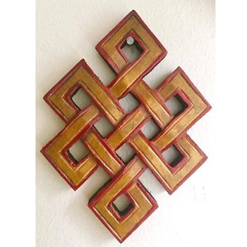 Endless Knot Wooden Wall Hanging