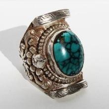 Ethnic Handmade Natural Stone Tibetan Rings