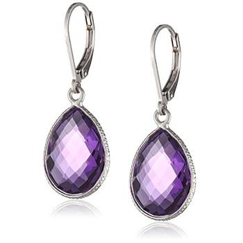 Faceted Amethyst Gemstone Earrings