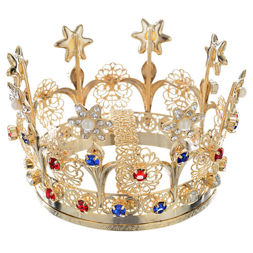 Flowers And Strass Decorations Crown