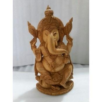 Ganesha Wooden Carving