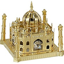 Gold Plated Crystal Tajmahal Showpieces
