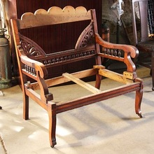 Hand Carved Wooden Chairs Frame