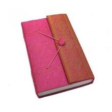 Handmade Beaded Fabric Notebook