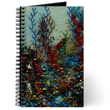Paper Beaded Fabric Notebook