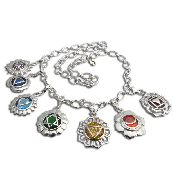 Seven Chakras Charm Bracelet