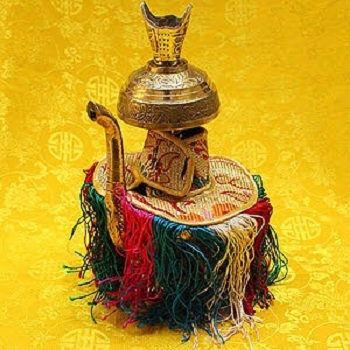 Silk Brocade Cushion Pillow for Tibetan Singing Bowl