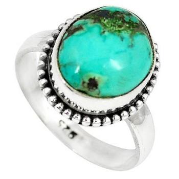 Stone Green Turquoise Tibetan Ring