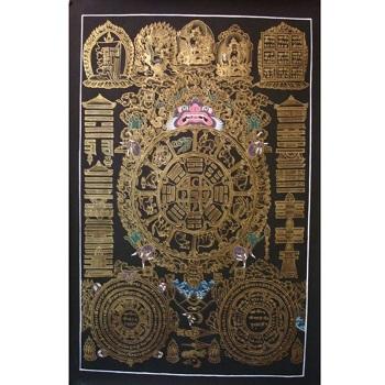Thangaka Handmade Tibetan Calendar